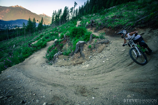 Mountain biking at Boulder Mountain, Revelstoke BC